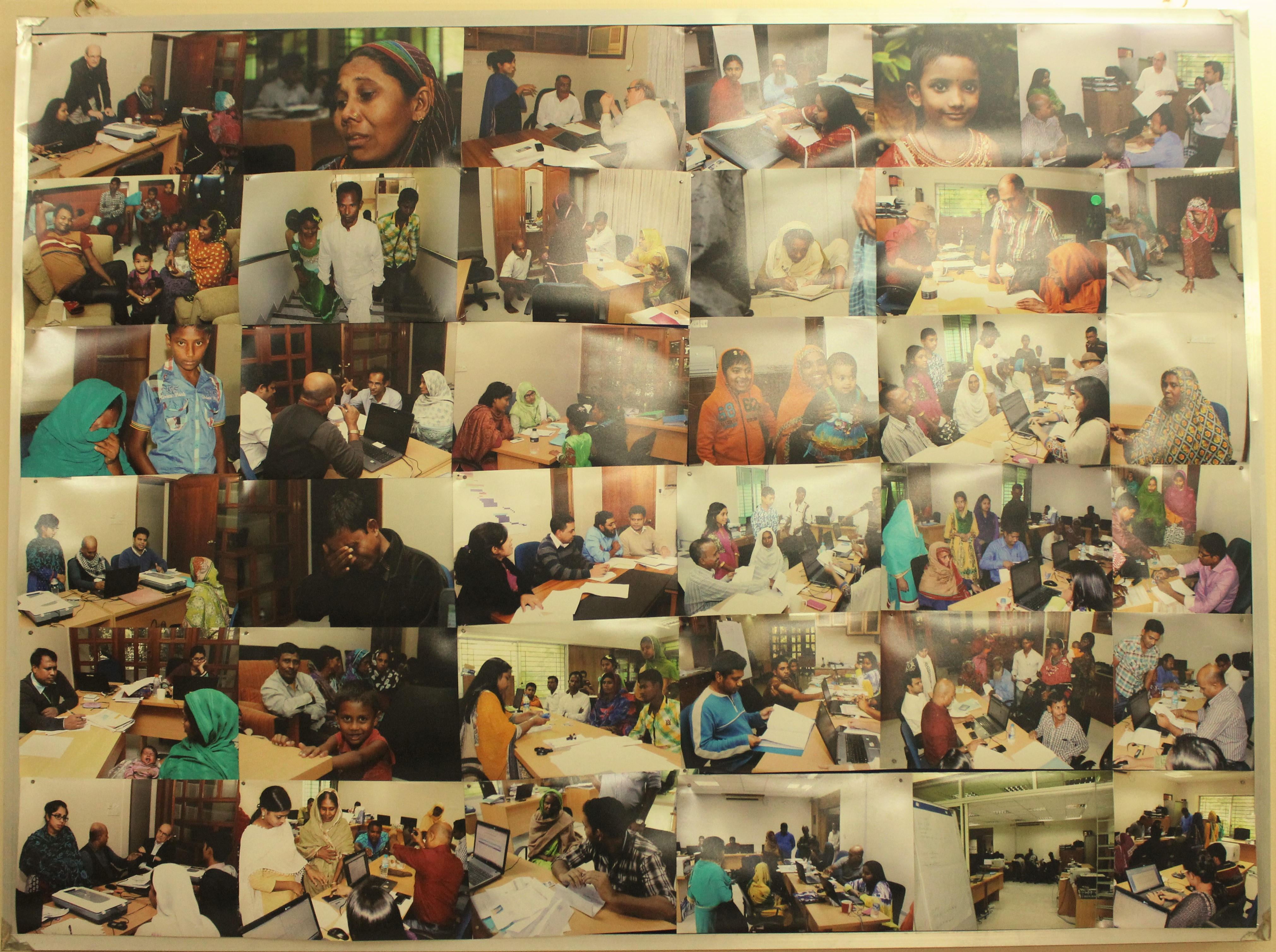 Photo Boards at TCA office